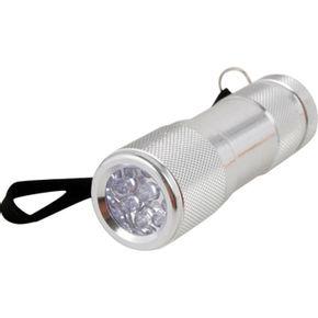 Lanterna Prata De Aluminio Com 9 Leds - La-14 - Western