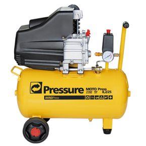 Compressor 8,2 Pés 25 Litros 116 Libras 2 HP Wind 220V Monofásico com Rodas - Pressure