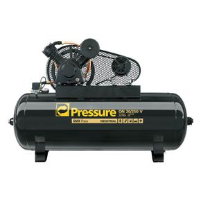 Compressor 20 Pés 250 Litros 175 Libras 5 HP Ônix Trifásico - Pressure